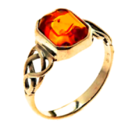 Gold Amber Ring