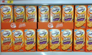 "Goldfish ""Mac & Cheese"" display at Wal*Mart"