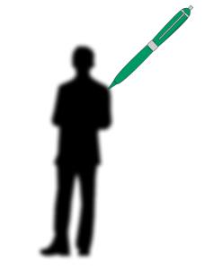 A man being drawn